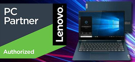 Lenovo callout banner: we've just been granted an official partnership with Lenovo
